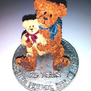 RARE BOYDS BEARS 25TH ANNIVERSARY FIGURINE